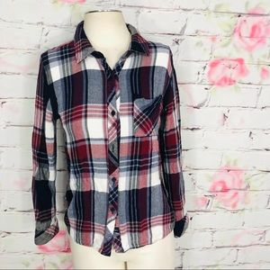 Rails hunter plaid flannel button down shirt